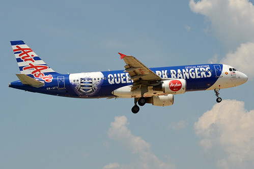 AirAsia (Queens Park Rangers Livery), 9M-AFV, Airbus A320-216