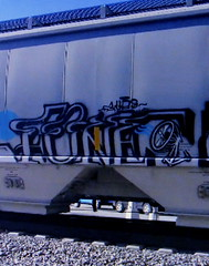 (timetomakethepasta) Tags: fone fonesex aub freight train graffiti art fan hopper grainer