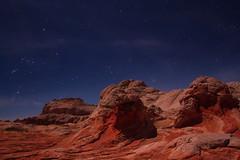 White Pocket under the stars (Chief Bwana) Tags: az arizona stars whitepocket navajosandstone vermilioncliffs pariaplateau orion taurus pleiades moonlight psa104 chiefbwana