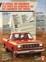 1984 Dodge Ram D100 Pickup Truck Chrysler Corporation USA Original Magazine Advertisement (Darren Marlow) Tags: 1 4 8 9 19 84 1984 d dodge r ram 100 d100 p pickup t truck c car cool collectible collectors classic a automobile v vehicle u s usa us united states american america chrysler cororation 80s