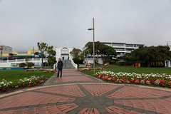 Out for a Stroll (Jocey K) Tags: newzealand southisland marlborough picton gardens walkway buildings architecture flowers people sky
