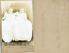Vintage Photo - Hazel & William (neshachan) Tags: instantancestor instantrelatives oldphotograph oldphoto children babies pittsburgh pittsburghpa kaufmann kaufmanns williamkennethyotter yotter williamyotter 1900s victorian 1901 hazelquade hazelelizabethquade
