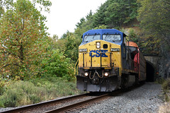 Picture Of CSX Diesel Engine #7858 Taken At Mine Rock Park Right Near CSX Freight Train Tracks In Highland Falls New York Just North Of The Bear Mountain Bridge In Orange County. Photo Taken Sunday October 15 2017 (ses7) Tags: csx diesel engine