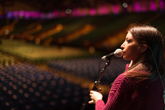 Francesca Miccoli in sound check at LIverpool Arena (miccoliband) Tags: miccoli music band siblings official indie pop alternative uk liverpool arena