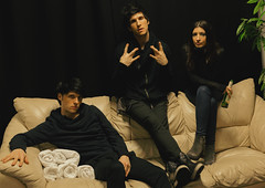 Adriano , Alessio and Francesca back stage at the Motorpoint Arena Cardiff (miccoliband) Tags: miccoli music band siblings official indie pop alternative motorpoint arena cardiff