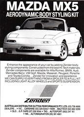 1990 Zender Mazda MX5 Aerodynmic Body Styling Kits Aussie Original Magazine Advertisement (Darren Marlow) Tags: 1 5 9 19 90 1990 z zender s styling b body k kit m mazda x mx mx5 c car cool collectible collectors classic a automobile v vehicle 90s