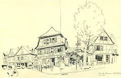 Rue des Pompiers - Schiltigheim (lolo wagner) Tags: sketchcrawl sketch usk rencontre croquis schiltigheim alsace france dessin brasserie