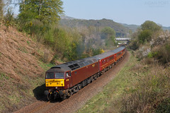 47826 2Z07 @ Brownspring Coppice 21/04/2019 (North West Rail Scene) Tags: 47 westcoast wcrc class47 windermere oxenholme staveley loco locohauled 2z07 47826 47851 diesel train
