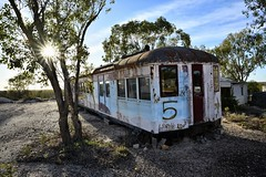 there is no place like home (gro57074@bigpond.net.au) Tags: thereisnoplacelikehome guyclift lefttotheelements redrattler traincarriage landscape f100 tamron d850 nikon color colour noplacelikehome opal opalmining 2019 april outbush bush outback nsw country lightningridge home