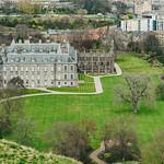 Aerial view of Holyrood Palace, in Edinburgh. thumbnail