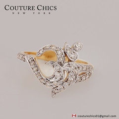 Solid 14K Yellow Gold Natural Diamond Pave OM Religious Ring Handmade Jewelry (couturechics.facebook1) Tags: solid 14k yellow gold natural diamond pave om religious ring handmade jewelry
