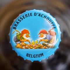 Belgian Beer !  HMM (de_frakke) Tags: macromondays bottlecap