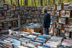 A Wall of Books [explored] (Peter Branger) Tags: activeassignmentweekly books book easter outdoor secondhand market fair canoneosr canonrf35mmf18macroisstm