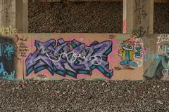 Cent (NJphotograffer) Tags: graffiti graff new jersey nj trackside rail railroad bridge cent pfe crew
