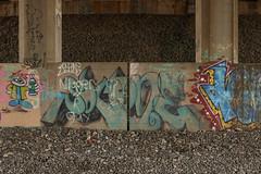 Soco (NJphotograffer) Tags: graffiti graff new jersey nj trackside rail railroad bridge soco wallnuts pfe crew ox
