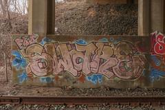 Sware (NJphotograffer) Tags: graffiti graff new jersey nj trackside rail railroad bridge sware fds crew