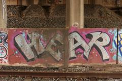 Hear (NJphotograffer) Tags: graffiti graff new jersey nj trackside rail railroad bridge hear