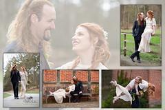 Livvy & Daniel (Simone Schloen ☞ www.bilderimkopf.de) Tags: hochzeitwedding wedding hochzeit braut bräutigam bride groom dress tattoo laugh merry bridge bank ahausermill