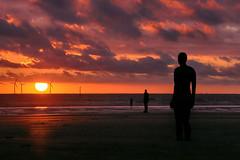 Another Place at Sunset (lfeng1014) Tags: anotherplace sunset crosbybeach beach liverpool england uk windturbine canon5dmarkiii ef70200mmf28lisiiusm landscape landmark sculpture travel lifeng