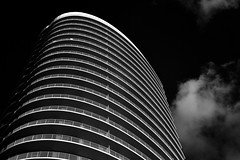 Upper Kirby Apartments (infrared) (dr_marvel) Tags: ir infrared houston tx texas apartments skyscraper curves