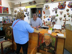 Making a purchase of Huichol bead craft (ruthietoots) Tags: ruthietoots mexico puertovallarta huichol