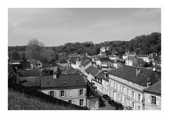 Par-dessus les toits de Pierrefonds (DavidB1977) Tags: france picardie hautsdefrance oise pierrefonds monochrome bw nb fujifilm x100f château