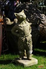 Puss In Boots  Garden Show (psychosteve-2) Tags: puss boots cat stone statue garden