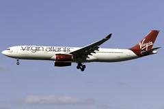 Virgin Atlantic A330-300 G-VINE at London Heathrow LHR/EGLL (dan89876) Tags: virgin atlantic airbus a330 a333 a330300 gvine champagne belle london heathrow international airport 27l lhr egll