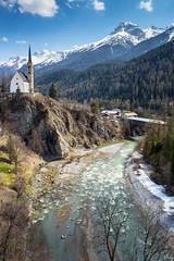 Dreamland (schofz) Tags: scuol schweiz switzerland engadin graubünden fluss river berg mountain
