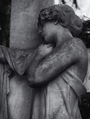 Loss (michael_hamburg69) Tags: hamburg germany deutschland cemetery friedhof ohlsdorf sculpture skulptur female standortj7 kreuz crucifix grabmalsprecher sculptor bildhauer hansdammann 1906 woman