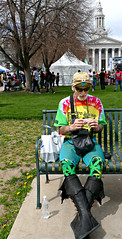 Happy Bench (Colorado Sands) Tags: man male men rolling denver colorado 420 potfest civiccenter milehigh 420rally us america usa weed grass marijuana legalpot sandraleidholdt unitedstates april202019 pot legal cannabisculture counterculture marihuana stoners april20 civiccenterpark 420festival milehigh420festival event hbm bench