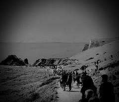 The Road To Damascus (rwbthatisme) Tags: dorset bank holiday durdle door monochrome