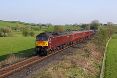 47826 Burneside 20th April 2019 (John Eyres) Tags: last shot day sees 47826 tnt 47851 approaching burneside lower level crossing with 2z11 1737 oxenholme windermere 200419