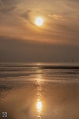 Wallasey Sunset, No Plane Required. (alundisleyimages@gmail.com) Tags: sunset wallasey merseyside notcheshire windfarm beach weather landscape seascape rivermersey ports tide lowtide ebbsun clouds reflections ecosystem envoironment saveourplanet plasticfreeoceans nature wildlife aquatic