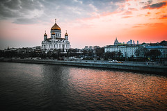 Cathedral of Christ the Saviour (alexrgb5) Tags: city cityscape evening город москва moscow russia cathedral храм река river sunset