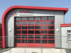 Rathfriland Fire Station (John D McDonald) Tags: rathfriland firestation blue sky bluesky red countydown codown southdown northernireland ni ulster geotagged iphone iphone7plus appleiphone appleiphone7plus iveagh