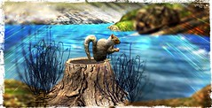 ~*SR*~ & ~*TD*~ Bayounimba Squirrel (animated)_001 (Mondi Beaumont) Tags: fantasy faire 19 2019 11th ff rfl relayforlife relay for life fight cancer sweet revolutions ~sweet revolutions~ ~sr~ telperion designs ~telperion designs~ ~td~ deco decorations mesh bayounimba garden gardening sim building crafting plants animals swamp elf elven voodoo cult cultural sl secondlife second tree stump squirrel animated nature