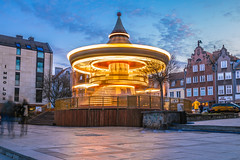 The carousel of Gdansk at blue hour (Vagelis Pikoulas) Tags: gdansk poland europe longexposure blue hour travel holidays tokina 2470mm canon 6d view city cityscape landscape april spring urban 2019