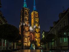 Cathedral of St. John the Baptist (Jorge Toselli) Tags: sigma sigmaart 1815 nikon wroclaw poland church nightshot rain longexposure architecture oldbuildings