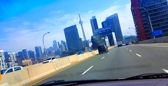 Home. En route passed the city core. (Galactic Dawn) Tags: toronto city downtown spring weather urban highway structures canada