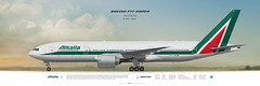Boeing 777-200 Alitalia (rulexy) Tags: posterjetavia aviation airliner aircompany airlines airline airtransport airplane jetliner jet aviationlovers avgeek airside aviationart instagramaviation civilaviation aircraftillustration worldairlines profileprints