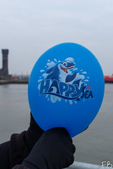 HAPPY AT SEA!! (frisiabonn) Tags: balloon sea whale haha funny alfred dock harbour water mersey merseyside happy