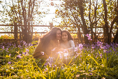 Mum and Maiya (H Driver) Tags: bluebells bluebell woods southampton portsmouth hampshire mummy me