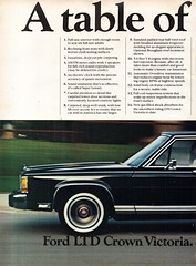 1985 Ford LTD Crown Victoria Sedan Page 1 USA Original Magazine Advertisement (Darren Marlow) Tags: