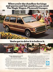 1985 Plymouth Voyager Wagon Van Chrysler Corporation USA Original Magazine Advertisement (Darren Marlow) Tags: 1 5 8 9 19 85 1985 p plymouth v voyager van wagon c car cool collectible collectors classic a automobile vehicle chrysler u s us usa united states american america 80s