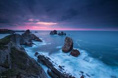 Sunset at Costa Quebrada (KESS Photos) Tags: cantabria longexposure agua water rocks roca sea mar sunset españa costaquebrada spain nikonflickraward