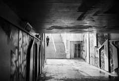 Passage souterrain (herbdolphy) Tags: analog analogique 35mm film argentique pellicule kodak tmax100 noiretblanc blackwhite filmisnotdead filmphotography nantes