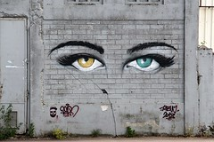 . (just.Luc) Tags: eyes ogen auge yeux graffiti grafitti streetart urbanart france frankrijk frankreich francia frança bordeaux gironde nouvelleaquitaine muur wall mur mauer