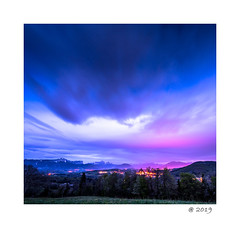 Atomic Annecy sunset ! (pdel64@photography) Tags: annecy sunset color sky cloud blue