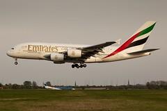 Airbus A380 landing at Glasgow (GWMcLaughlin) Tags: ef24105lf4 24105l ek scotland airplane airliner airline emirates egpf gla flugzeug avion aeroplane 6d canon airport glasgow a6eet a380 airbus